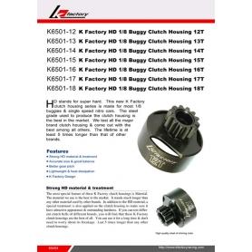 k-factory campana pignone 17 denti hd 1/8 buggy