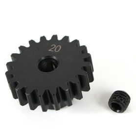 k-factory pignone 20t m1 5mm in acciaio per elettrico