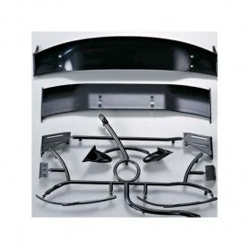 killerbody kit alettone tergicristalli specchietti in plastica nero drift touring neri