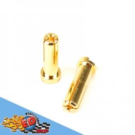 monkeykingrc connettori testa piatta 5mm battery plug (2) gold