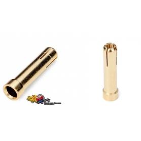 monkeykingrc adattatore battery plug da 4mm a 5mm std 19mm (2) gold