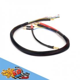 monkeykingrc cavo professionale per ricarica 2 pacchi batterie 2s nero