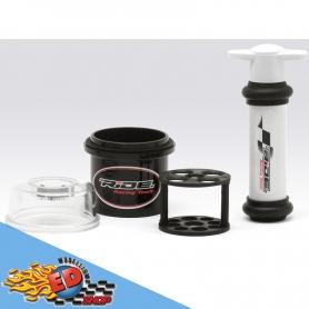 ride air remover kit short per rimuovere aria dagli ammortizzatori con busta per trasporto - air remover - damper vacuum pump -