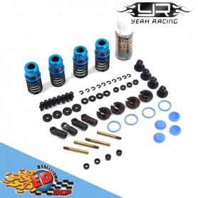 yeah racing set ammortizzatori 50mm per 1/10 drift spec (4) blu