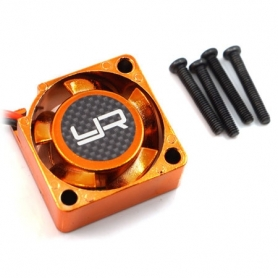 Yeah Racing Ventola Tornado High-Speed 25×25 per ESC 5~7.2V./0.28A 15.000rpm ARANCIO