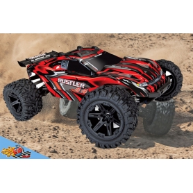 traxxas rustler 4wd rtr brushed monster truck (rosso)