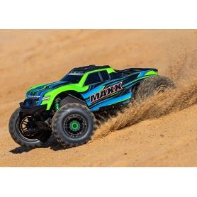 traxxas maxx vxl4s green monster truck