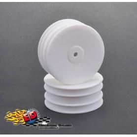 1/10 off-road cerchio anteriore bianco 4wd esagono 12mm
