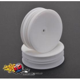 1/10 off-road cerchio anteriore bianco 2wd slim esagono 12mm