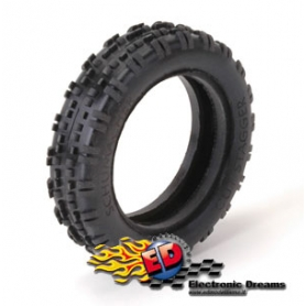 schumacher gomme cut stagger yellow slim 1/10 off-road