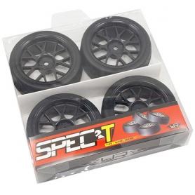 yeah racing spec t cs gomme in lattice touring scolpite offset +3 con cerchio a 14 raggi black