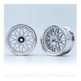 yokomo cerchi da drift offset +4 cerchio a 10 raggi matt silver (2)