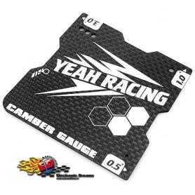 yeah racing misuratore camber 0.5 / 1 / 3.0 in carbonio x 1/10 touring