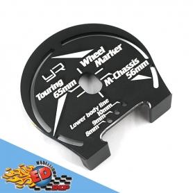 yeah racing dima per circonferenza passaruota e taglio carrozzeria basso 1/10 touring65mm e m-chassis 56mm