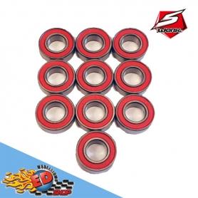 s-workz cuscinetti con schermo in gomma rosso 8x16x5mm (10)