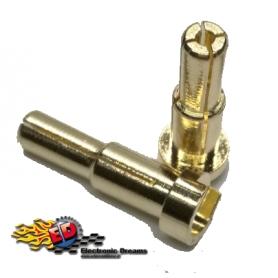 monkeykingrc connettori testa piatta 4/5x15mm battery plug (2) gold