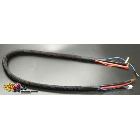 monkeykingrc cavo professionale per ricarica batterie 2s xh 30mm nero 60cm 12awg