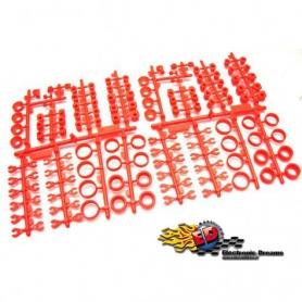 s-workz s35 set inserti in plastica fluorescente arancio set completo