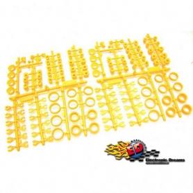 s-workz s35 set inserti in plastica fluorescente gialla set completo