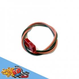 cavetto rosso nero in silicone hq 30cm con spinotto bec femmina