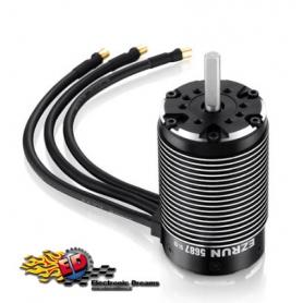 ezrun 5687sl 1100kv sensorless motore brushless 4 poli 1/5 cablato con sensore di temperatura hw30402550