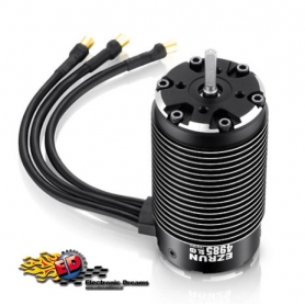 ezrun 4985sl 1650kv sensorless motore brushless 4 poli 1/6 cablato con sensore di temperatura hw30402950