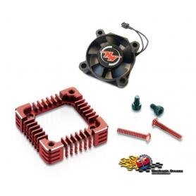 hobbywing ventola con adattatore in alluminio rosso x xr10 pro g2 30850304
