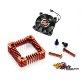 hobbywing ventola 30x30 con adattatore in alluminio orange x xr10 pro g2 30850305