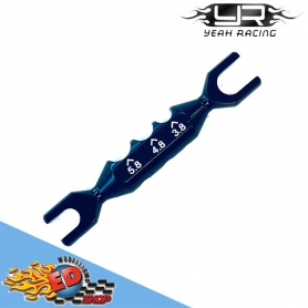 yeah racing chiave tiranti 4/5mm multi-uso 4 in 1 alluminio nero