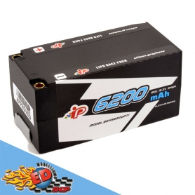 intellect 6200/120c 4s hv batteria lipo hardcase shorty graphene plug 5mm