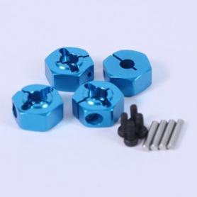 Yeah Racing trascinatori ruote in alluminio BLU x modelli 1/10 spessore 6mm (4