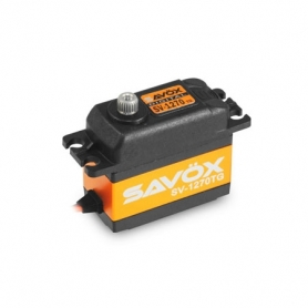 SAVOX SV-1270TG Servo Digitale – High Voltage – Monster Torque – Alu case – 35kg 0.11sec Ingranaggi Titanio