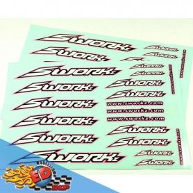 sworkz speed logo sticker (pushbar)(hara edition)(2pc)
