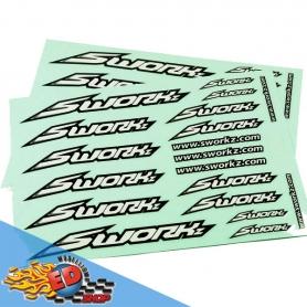 sworkz speed logo sticker (pushbar)(wh)(2pc)