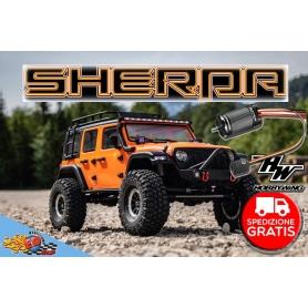 sherpa crawler cr3.4 1/10 ep orange rtr + quicrun fusion brushless kit