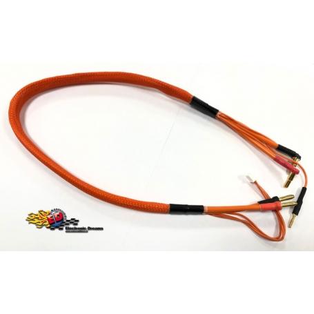 monkeykingrc cavo professionale per ricarica batterie 2s xh 30mm orange 60cm 12awg