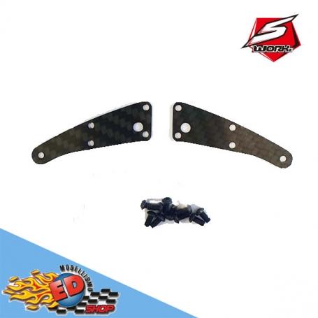 sworkz s35-gt2/e pro-composite carbon front upper arm cover (1mm)(2pc)