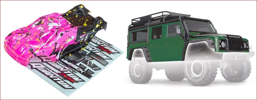 CARROZZERIE per Modelli RC On Road, Off Road, Scaler & Crawler